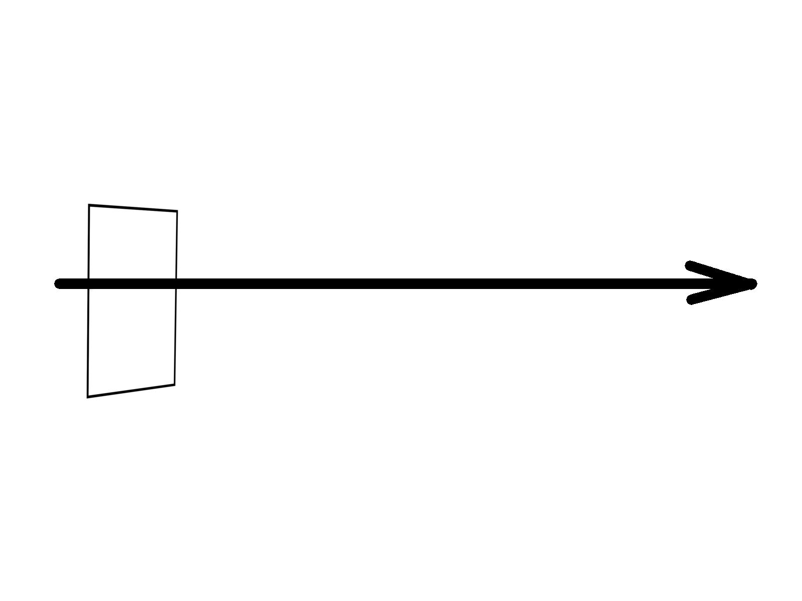 Elektromagnateické vlnění se může rozkmitat pouze v této rovině, která je kolmá na směr šíření vlny.